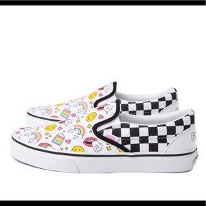 Unisex Vans FLOUR SHOP Slip On Checker Skate Shoe
